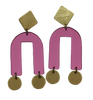 Presidio Earrings - Pink Mirror