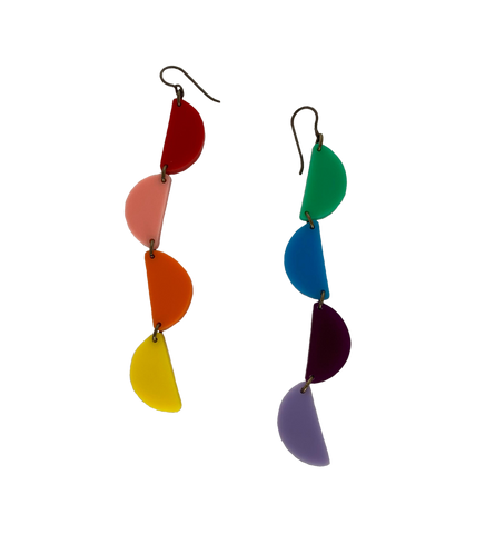 Rainbow Slices Earrings
