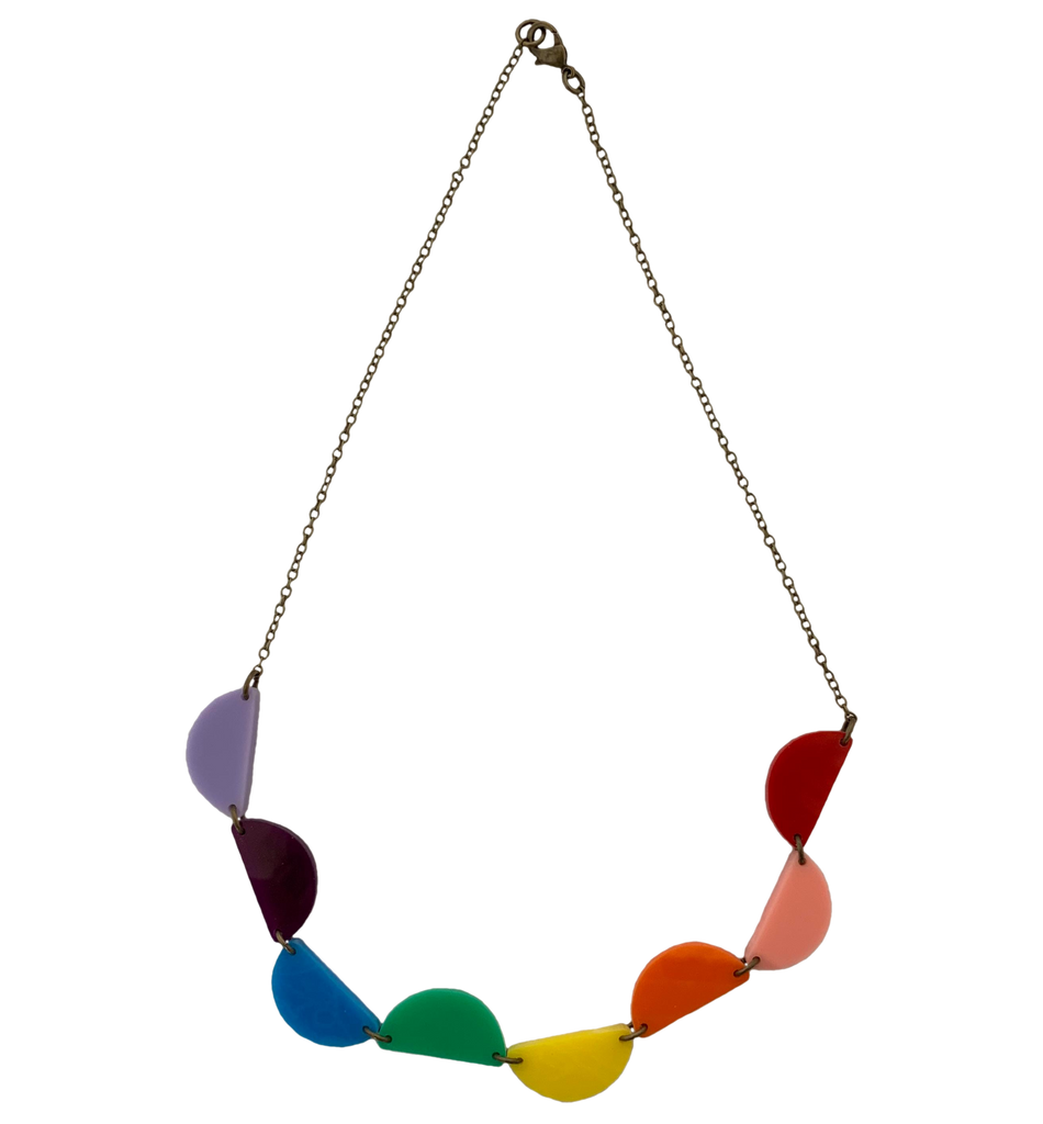 Rainbow Slices Necklace