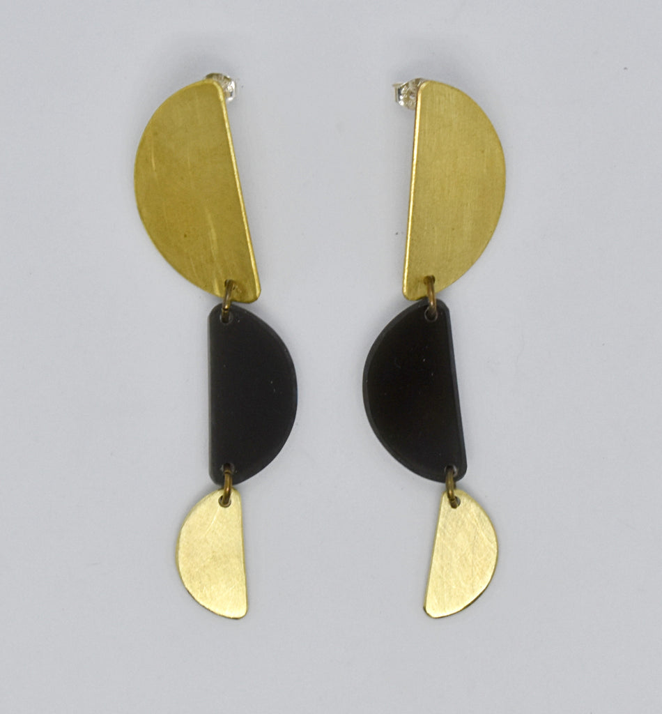 Reyes Earrings - Black Transparent