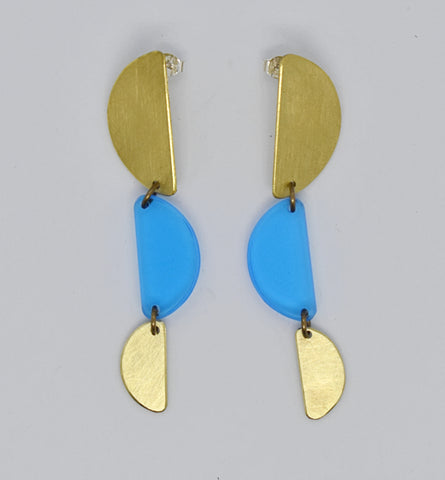Reyes Earrings - Blue Transparent