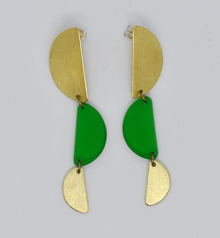 Reyes Earrings - Green Transparent