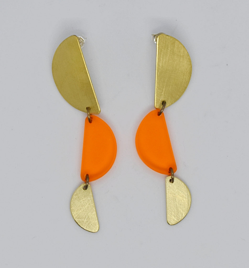 Reyes Earrings - Orange Transparent