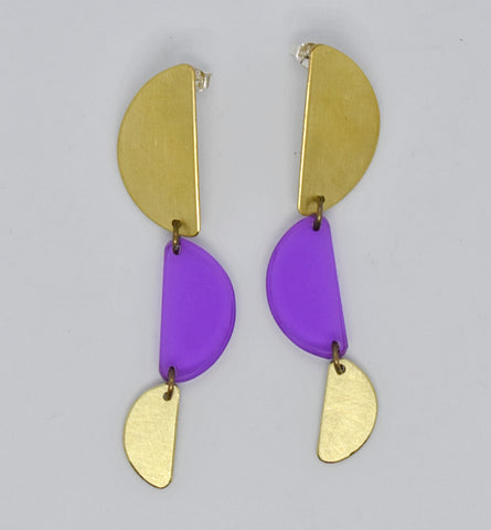 Reyes Earrings - Purple Transparent
