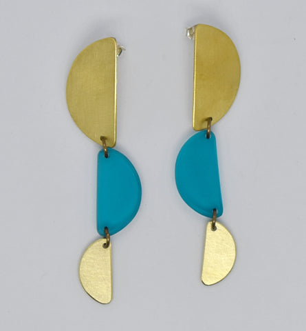 Reyes Earrings - Turquoise Transparent