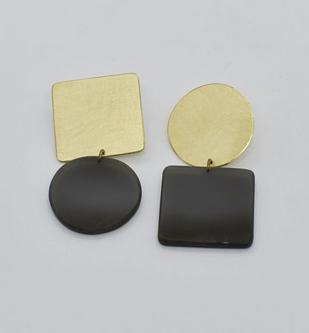 Sausalito Earrings - Black Transparent