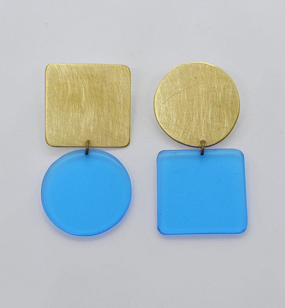 Sausalito Earrings - Blue Transparent