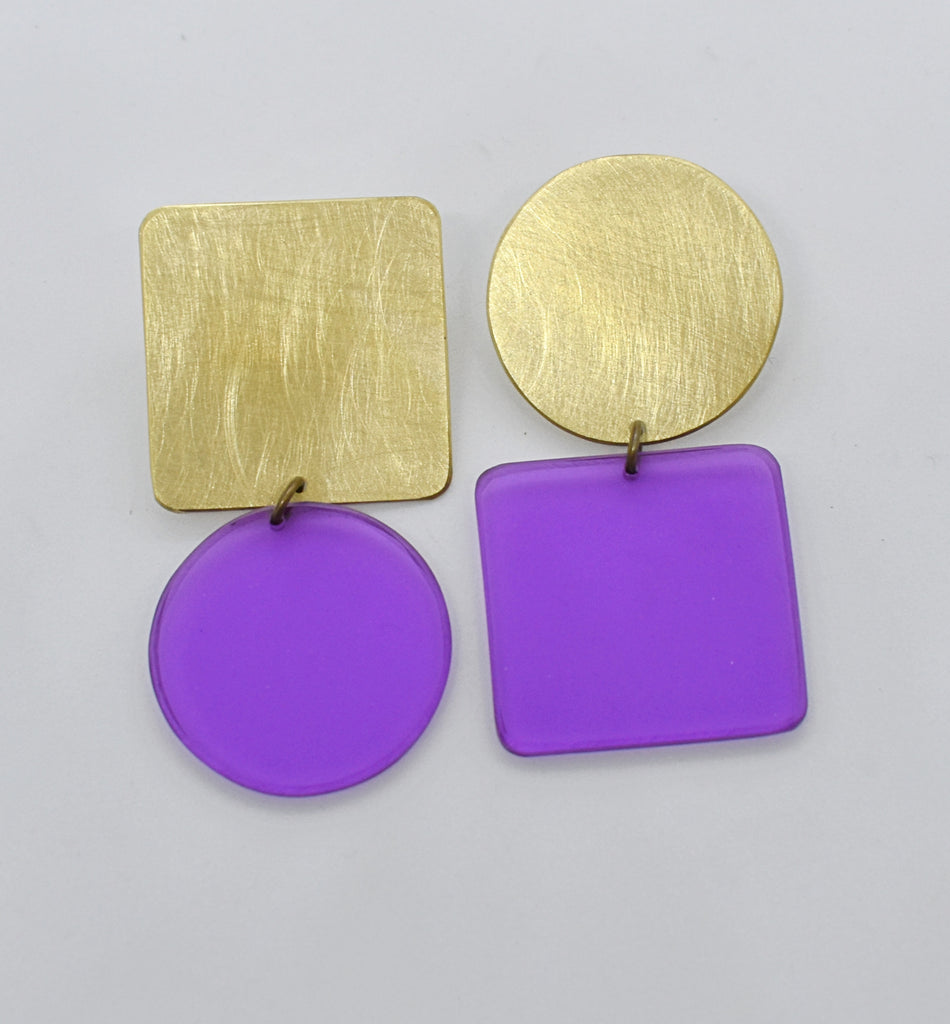 Sausalito Earrings - Purple Transparent
