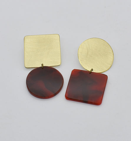 Sausalito Earrings - Tortoise Shell