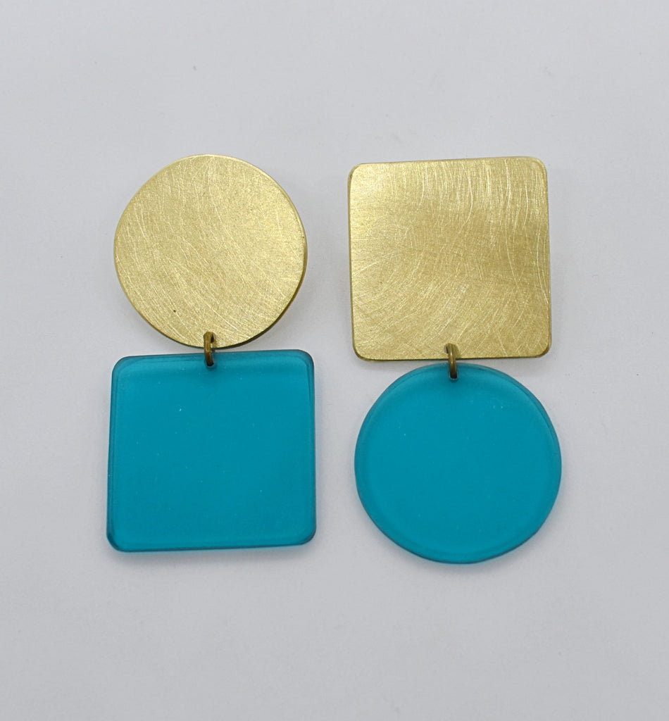 Sausalito Earrings - Turquoise Transparent