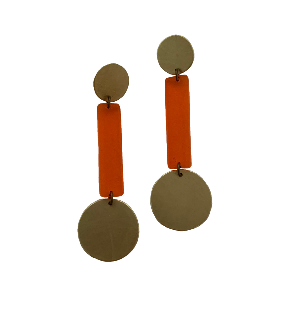 Skyline Earrings - Orange Transparent