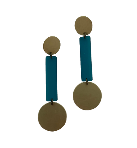 Skyline Earrings - Turquoise Transparent