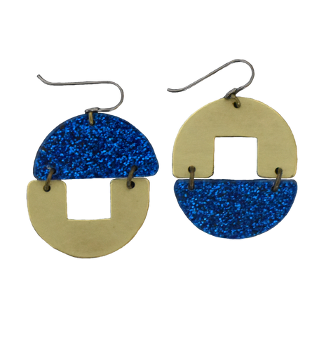 Stern Grove Earrings - Blue Glitter