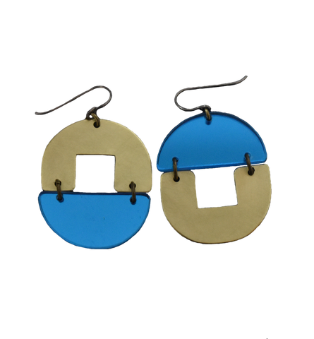 Stern Grove Earrings - Blue Mirror