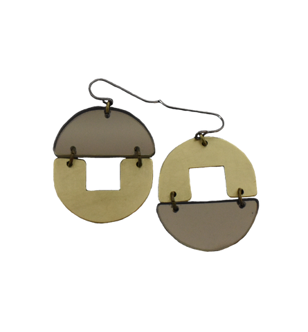 Stern Grove Earrings - Grey Mirror
