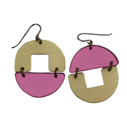 Stern Grove Earrings - Pink Mirror
