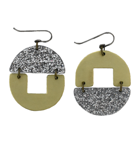 Stern Grove Earrings - Silver Glitter