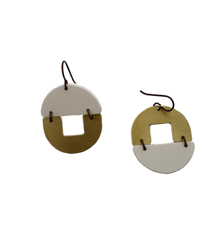 Stern Grove Earrings - white