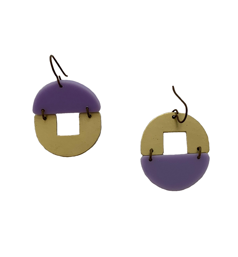 Stern Grove Earrings - lilac