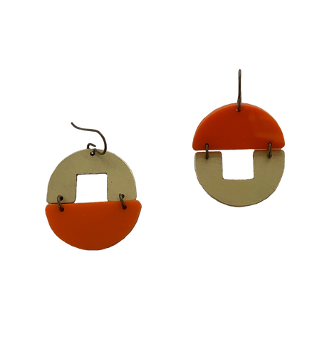 Stern Grove Earrings - orange