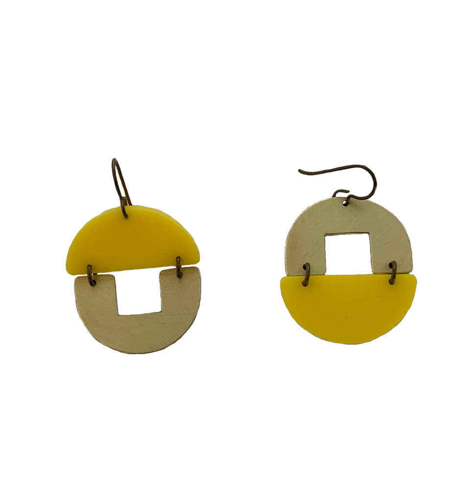 Stern Grove Earrings - yellow
