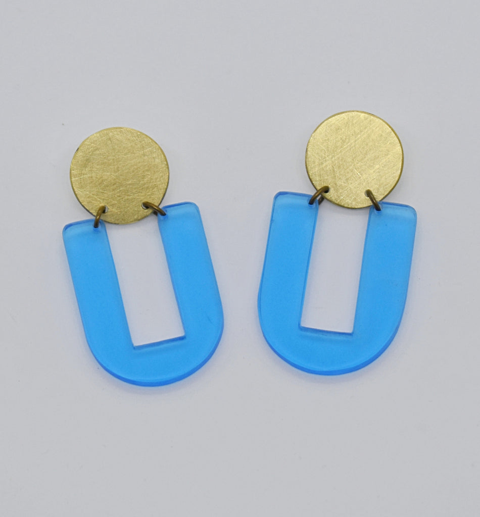 Stinson Earrings - Blue Transparent