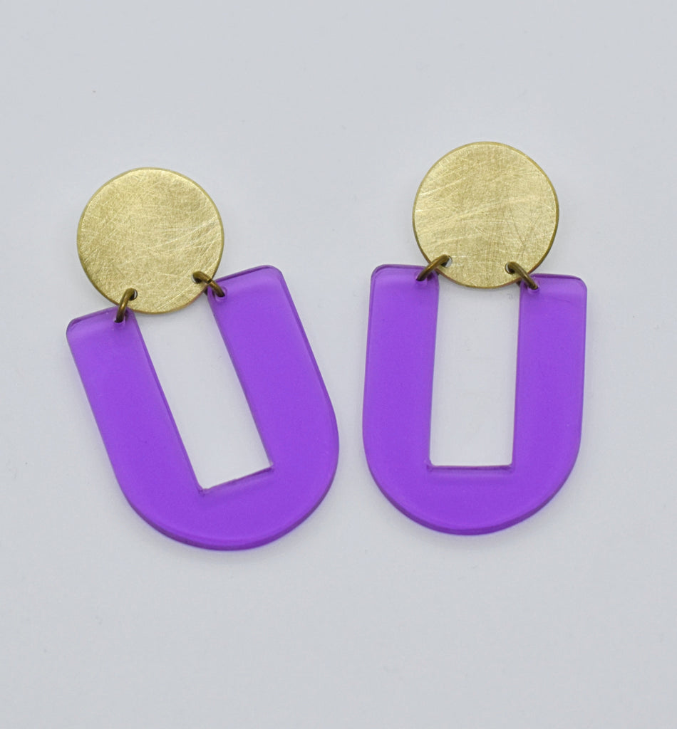 Stinson Earrings - Purple Transparent