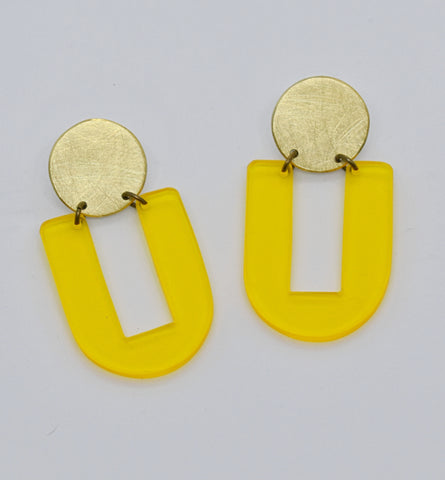 Stinson Earrings - Yellow Transparent