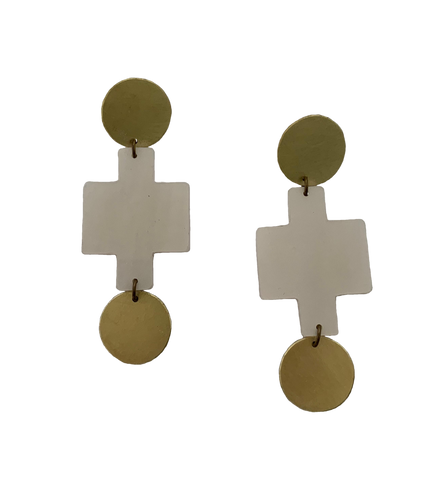 Sutro Earrings - pearl white