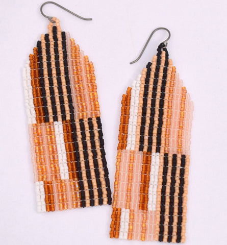 Large Chaotic Stripe Earrings - Smores