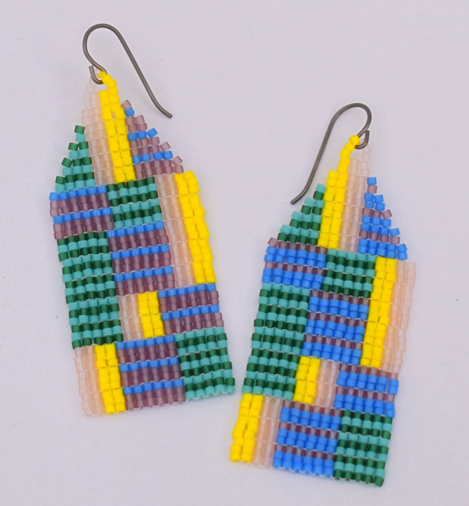 Medium Chaotic Stripe Earrings - Beachside