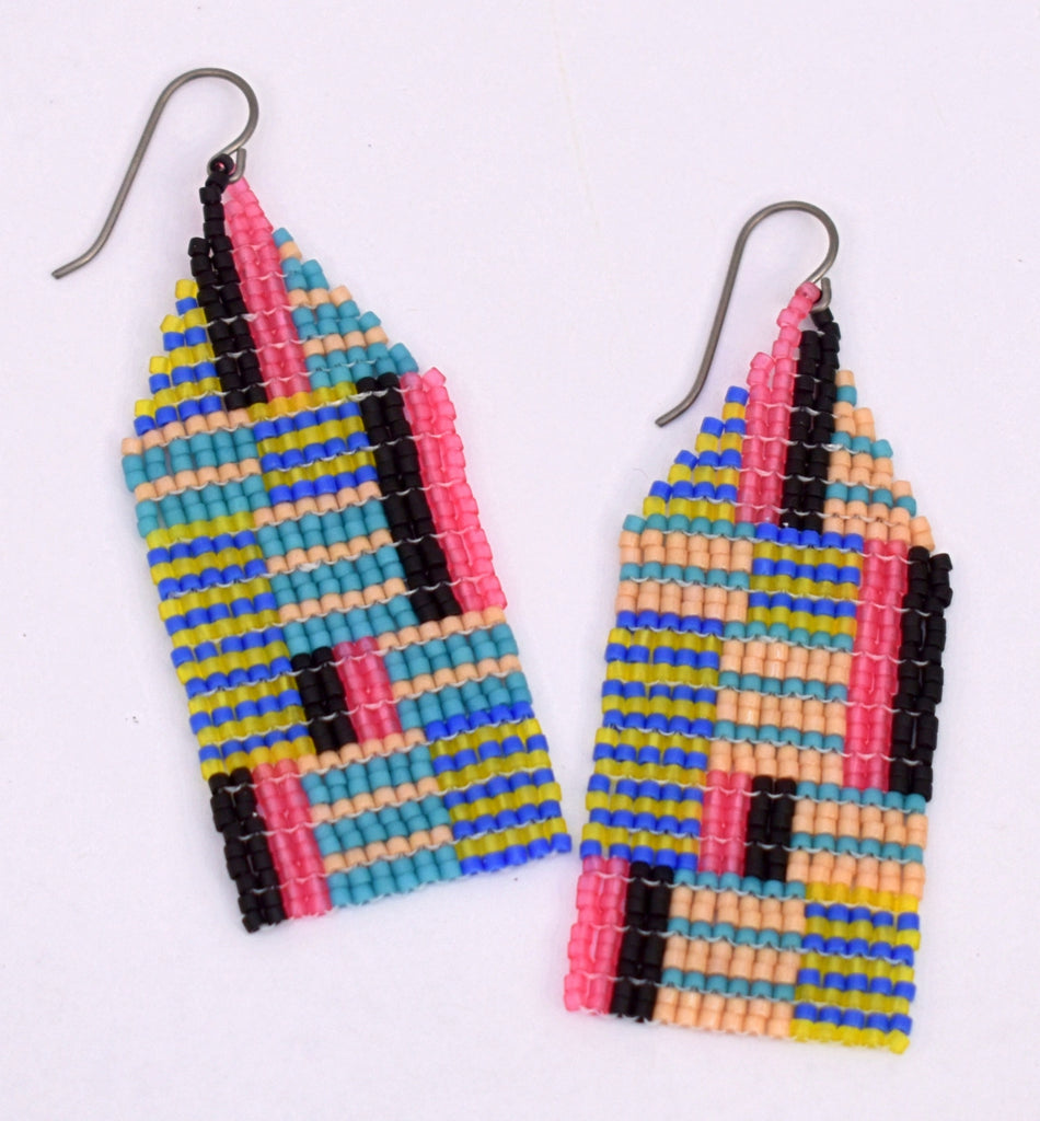 Medium Chaotic Stripe Earrings - Getaway