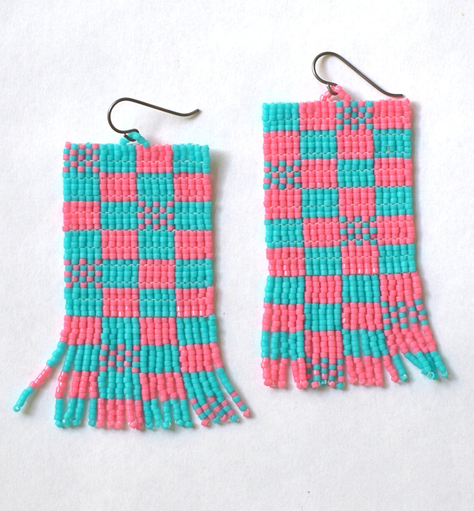 Mega Checks Mix - Pink and turquoise