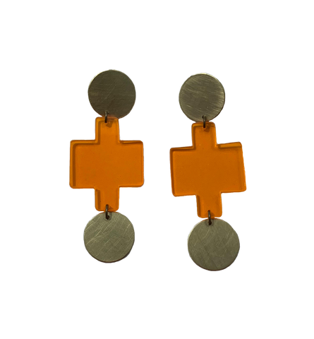 Sutro Earrings - Orange Transparent
