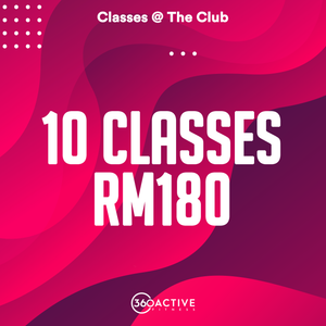10 Class Package - Classes @ The Club