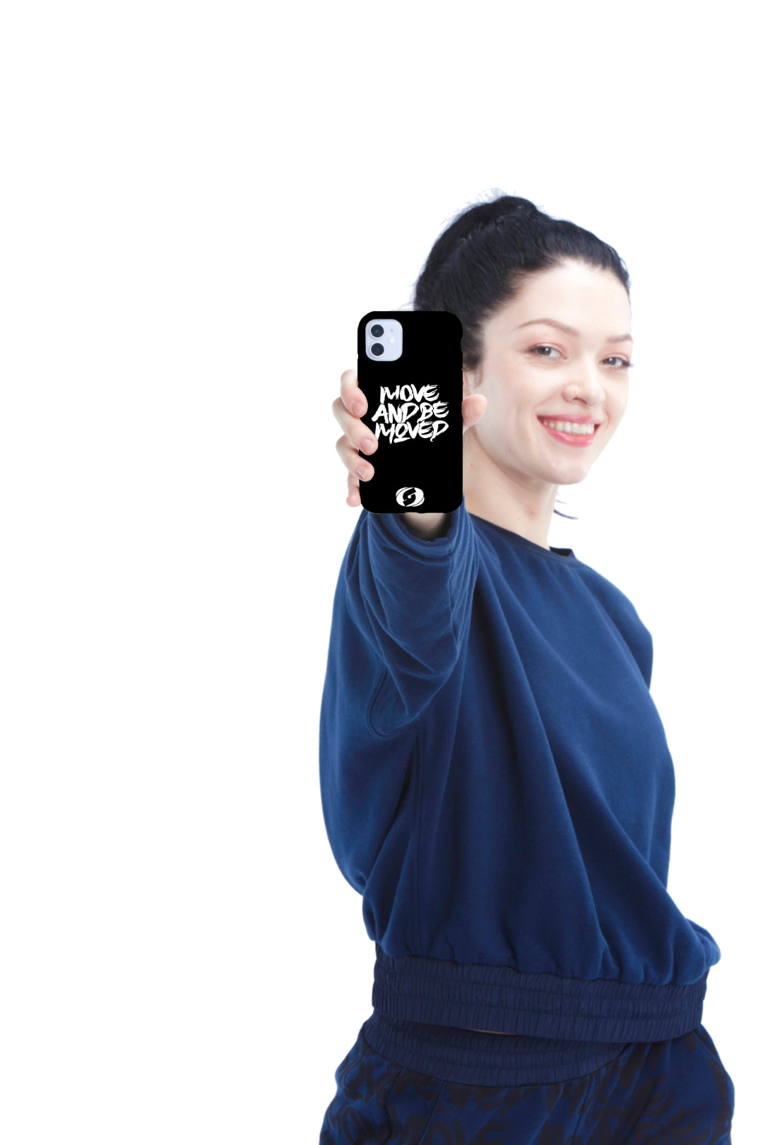 Biodegradable Phone Case - Move and Be Moved Black