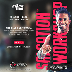 Salsation® Workshop by Will Sanchez (22 March 2020 1pm-4pm) - Jordan Reef Fitness Convention