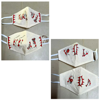 Warli Mask (Set of 4)
