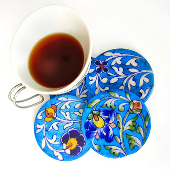 Blue Pottery Coasters