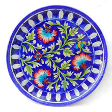 Blue Pottery Decorative Wall Plate