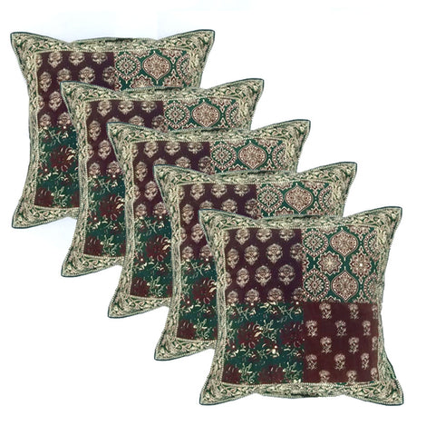 Hand Block Printed Cushion Covers (Set of 5)