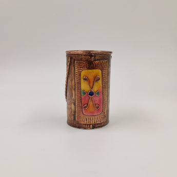 Copper Enamel Pencil Holder