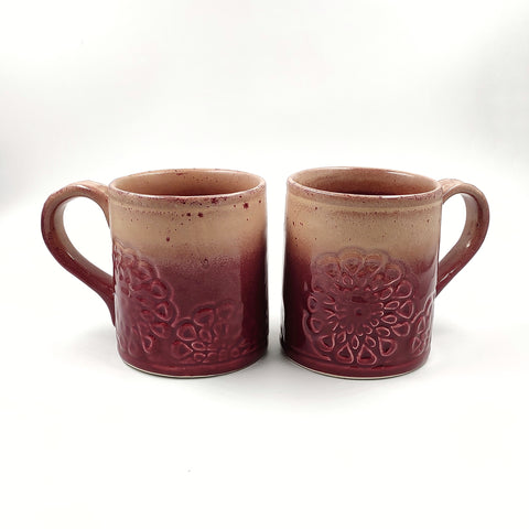 Studio Pottery Glazed Coffee Mugs
