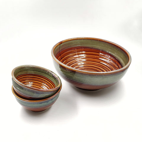Serving Bowl with two katoris