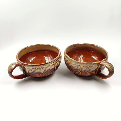 Studio Pottery Soup Bowls (Set of 2)