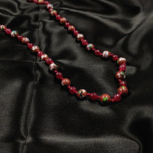 Red quartz with Meenakari beads necklace