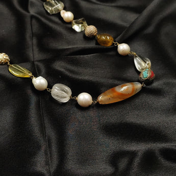 Lemon topaz Semi Precious Necklace
