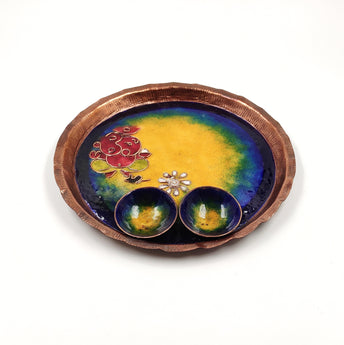 Combo of Copper Puja Plate