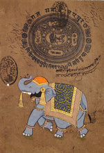 Indian Rajasthan Painting - Stamp paper miniature