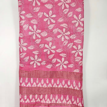 Kantha Hand embroidery on Tussar silk
